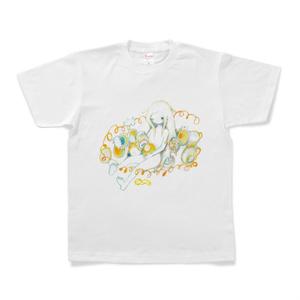 みっつく ぐるぐる Tシャツ ホワイト
