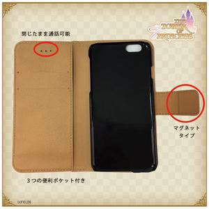 オデットデザイン 手帳型iPhoneケース【タワー オブ プリンセス】