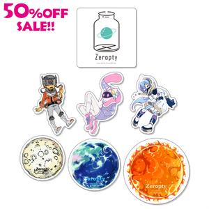 【SALE!!】ステッカー7枚セット(gravity0)