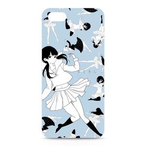 iphone5用少女ケース blue
