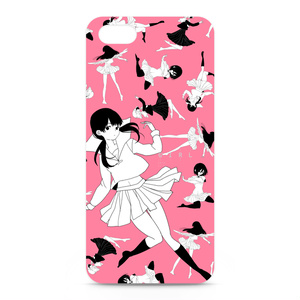 iphone5用少女ケース pink