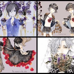 粟田口と花のポストカード集