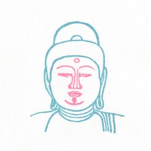 顔出し仏像はんこ ( 阿弥陀如来 )