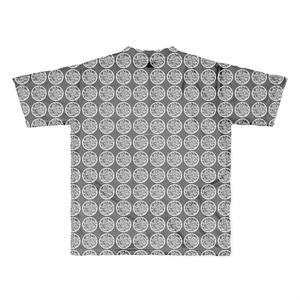 バティック風皆んなのカワユイ(^◇^)カリフ道Tシャツ