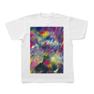 Tシャツ Colorful Wing 001 白