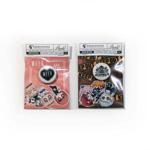 ミニロゴ缶バッヂ&ステッカーセット
