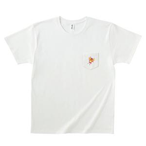 ポケットに虫Tシャツ(ホワイト)