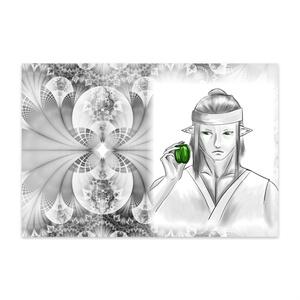 ピーマン(緑)ポストカード