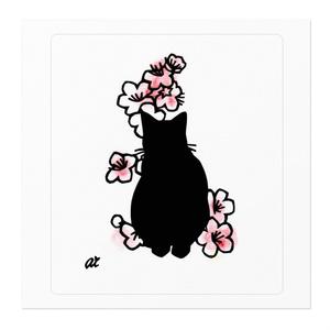 梅猫-Oステッカー