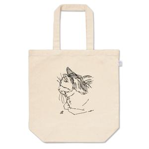 ペン画猫トートバッグ-T