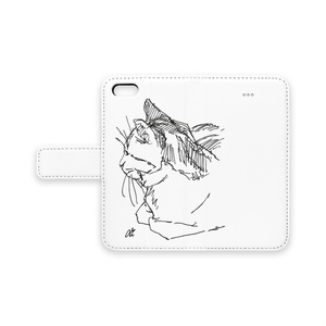 T-ペン画 手帳型iPhoneケース