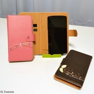 チョコミント+ハ音記号&音楽記号スマホケース♪(Android)