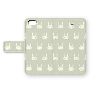 うさぎのiPhoneカバー(グレー)