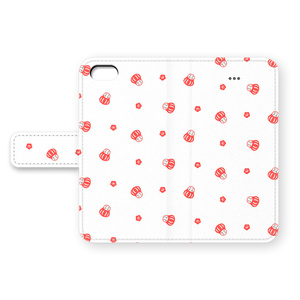 だるまのiPhoneカバー(白地に赤)