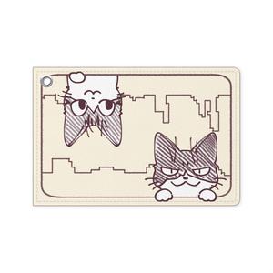 猫パスケース(じょせ&けだま)