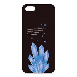 ことばの結晶 iPhoneケース黒