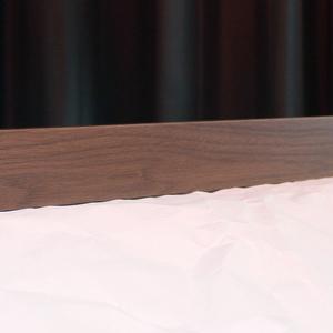 EIA19インチラック用 1Uブランクパネル ウォルナット無垢材