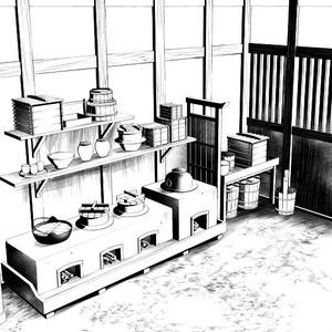 和風炊事場3D素材集・コミスタ・クリスタ兼用素材