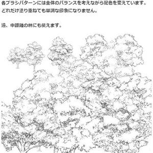 白樹木ブラシ・コミスタ・クリスタ兼用素材
