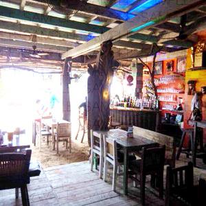 写真素材_浜辺の酒場