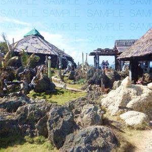 写真素材_首長の村落