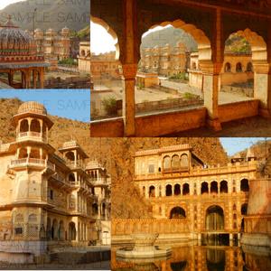 ヒンドゥーの沐浴寺:写真素材集