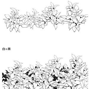 葉草・白葉ブラシ03・コミスタクリスタ兼用素材