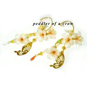桜のイヤーフック/桃色 2種