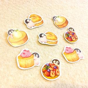 【シール】甘党ペンギンさんのシールフレーク第2弾