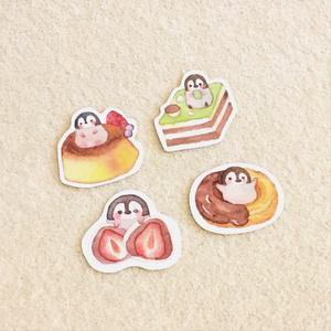 【シール】甘党ペンギンさんのシールフレーク第4弾