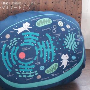 【送料込】動物細胞クッション
