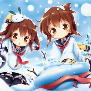 第六駆逐隊プレイマット(雪遊びver)