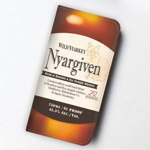 ウイスキーにゃんこの手帳型ケース(ニャーギブン)