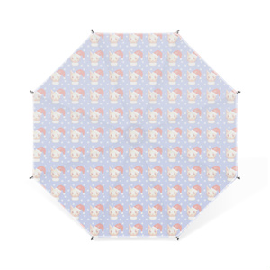 ねこすけ(雪)卓上ミニ傘 - 11cm