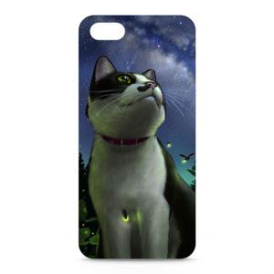 iPhoneケース「猫と天の川」(iPhone5用)