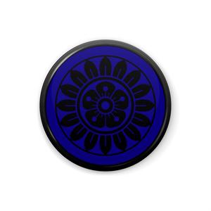 イーピン缶バッジ(黒×青)