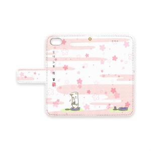 エリンギ先輩_iPhoneケース桜