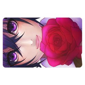 薔薇と少女ICカードステッカー