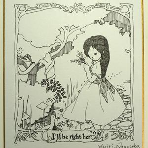 原画色紙(小) - girl