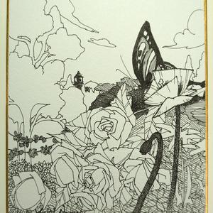 原画色紙(小) - field