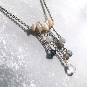 〈雪解け〉天然石ネックレス