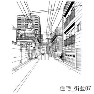 住宅の背景_セット16(街並)