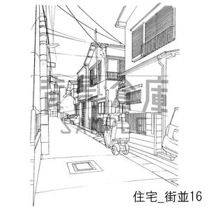 住宅の背景_セット17(街並)