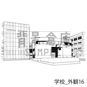 学校_セット22(外観)