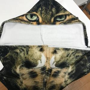ガチです(ФωФ)! ガチ猫フード付きタオル