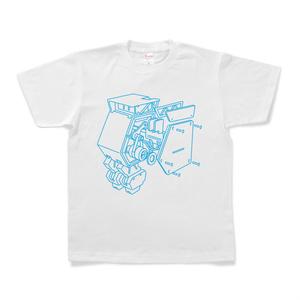 アンダンチノ内部構造Tシャツ(白)