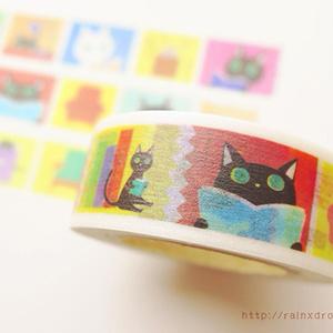 本読み猫マスキングテープ
