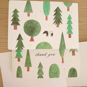 カード「thank you」