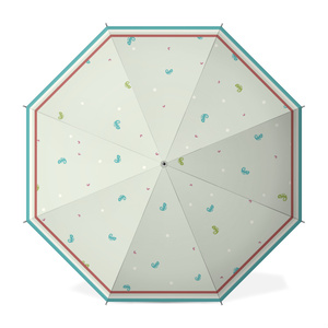 水玉とカメレオン模様の傘