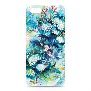 iPhone5,5Sケース・側面あり【花咲く水底】